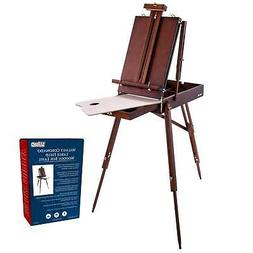 WALNUT French Style Easel Sketchbox with Drawer, Wooden Pall