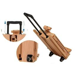Wooden Oil Painting Easel Sketch Box Portable Folding Durabl